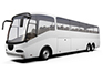 white coach from city minibus & coach hire